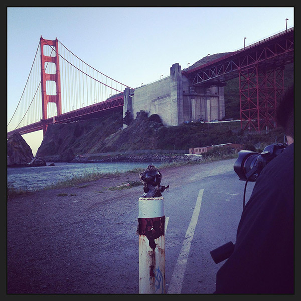 Lil Buddhas photoshoot under the Golden Gate Bridge!